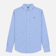 Женская рубашка Polo Ralph Lauren Kendall Oxford Slim Fit Blue Hyacinth фото- 0