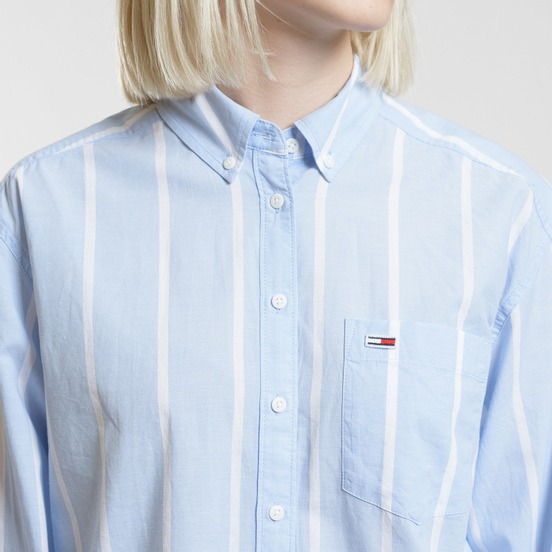 Женская рубашка Tommy Jeans Stripe Detail Serenity/Classic White