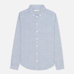 Женская рубашка YMC Button Down Blue Cream фото- 0