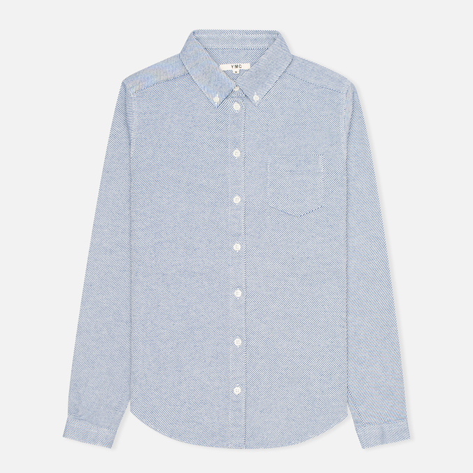 Женская рубашка YMC Button Down Blue Cream