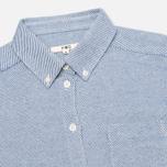 Женская рубашка YMC Button Down Blue Cream фото- 1