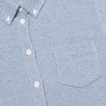 Женская рубашка YMC Button Down Blue Cream фото- 2