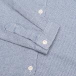 Женская рубашка YMC Button Down Blue Cream фото- 3