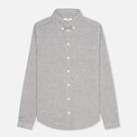 Женская рубашка YMC Button Down Navy Cream фото- 0
