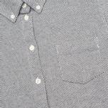 Женская рубашка YMC Button Down Navy Cream фото- 2
