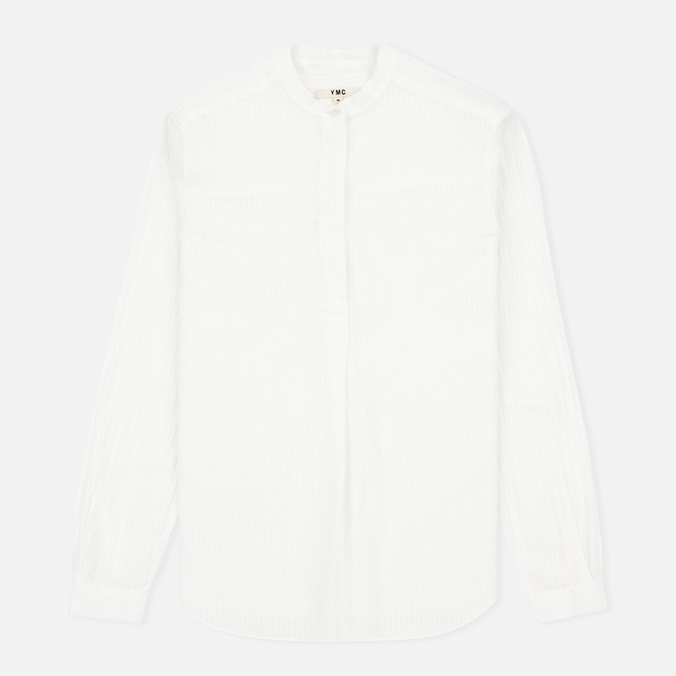 YMC Cotton Stripe Women's Shirt White
