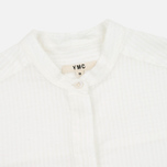 YMC Cotton Stripe Women's Shirt White photo- 1
