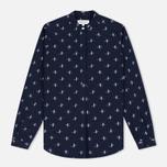 Женская рубашка YMC Ikat Navy фото- 0