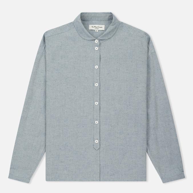 Женская рубашка YMC Marianne Slub Cotton Blue