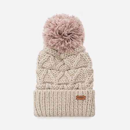 Женская шапка Barbour Cragside Bobble Cloud/Old Rose