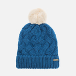 Женская шапка Barbour Fur Pom Pom Beanie Chalk Blue фото- 0