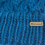 Женская шапка Barbour Fur Pom Pom Beanie Chalk Blue фото- 1