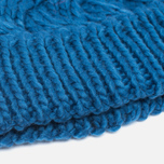 Женская шапка Barbour Fur Pom Pom Beanie Chalk Blue фото- 2