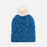 Женская шапка Barbour Fur Pom Pom Beanie Chalk Blue фото- 3