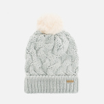 Женская шапка Barbour Fur Pom Pom Beanie Silver Ice фото- 0