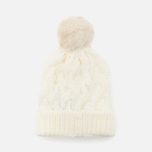Женская шапка Barbour Fur Pom Pom Beanie Snow фото- 3