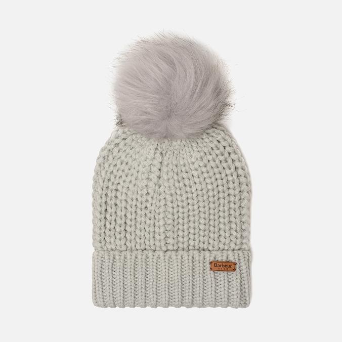 6cff7c86e69 Женская шапка Barbour Saltburn Beanie Ice White LHA0336GY11