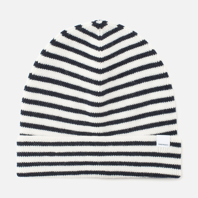 Женская шапка Norse Projects Margrete Stripe Ecru