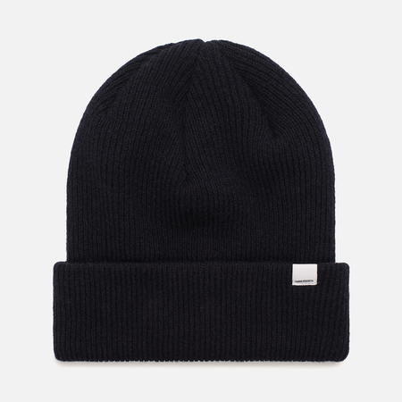 Женская шапка Norse Projects Norse Beanie Dark Navy