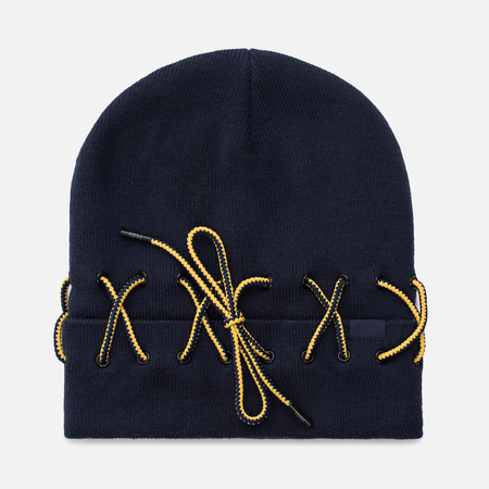 Женская шапка Puma x Rihanna Fenty Laced Beanie Evening Blue/Lemon