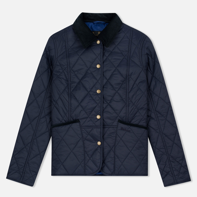 Женская стеганая куртка Barbour Clover Liddesdale Quilted Navy