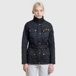 Женская стеганая куртка Barbour International Quilted Black/Black фото- 10