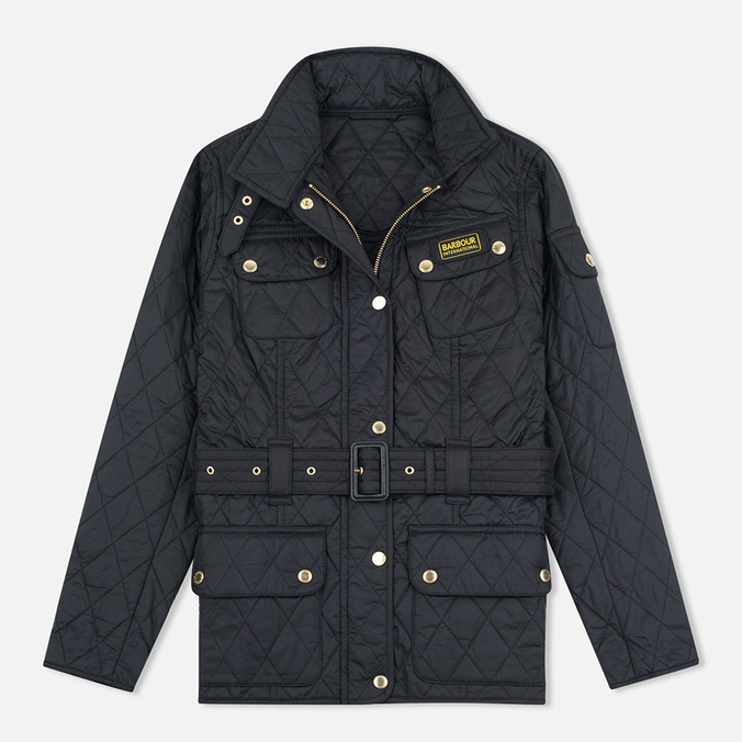 Barbour International Quilted Women's Quilted Jacket Black/Black