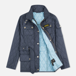 Barbour International Quilted Women's Quilted Jacket Navy/Sky photo- 1