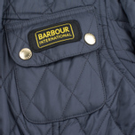 Barbour International Quilted Women's Quilted Jacket Navy/Sky photo- 5