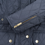 Barbour International Quilted Women's Quilted Jacket Navy/Sky photo- 8