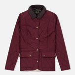 Barbour Saddleworth Women Quilted Jacket Burgundy photo- 0