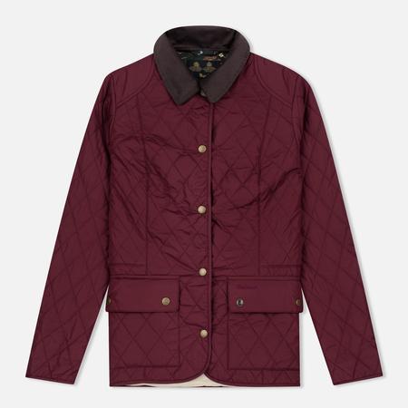 Barbour Saddleworth Women Quilted Jacket Burgundy