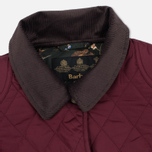 Barbour Saddleworth Women Quilted Jacket Burgundy photo- 2