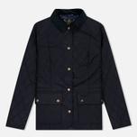 Женская стеганая куртка Barbour Saddleworth Quilted Navy фото- 0
