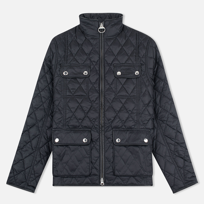 Женская стеганая куртка Barbour x Range Rover Viscon Black/Mink