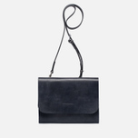 Женская сумка Ally Capellino Elizabeth Small Leather Crossbody Navy фото- 0