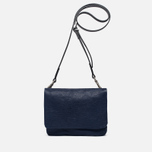 Женская сумка Ally Capellino Plum Leather Mini Crossbody Blue фото- 0