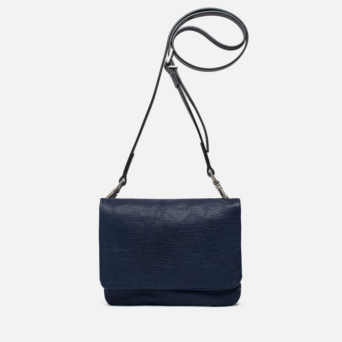 Женская сумка Ally Capellino Plum Leather Mini Crossbody Blue