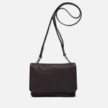 Женская сумка Ally Capellino Plum Leather Mini Crossbody Chocolate Brown фото- 0