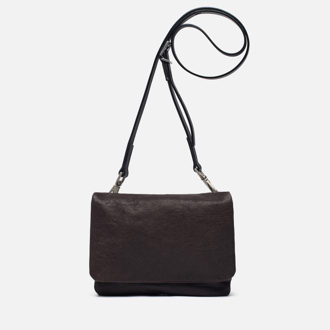 Женская сумка Ally Capellino Plum Leather Mini Crossbody Chocolate Brown