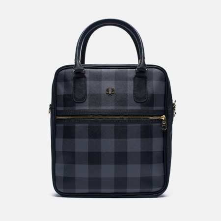 Женская сумка Fred Perry Gingham Boxy Grey/Black