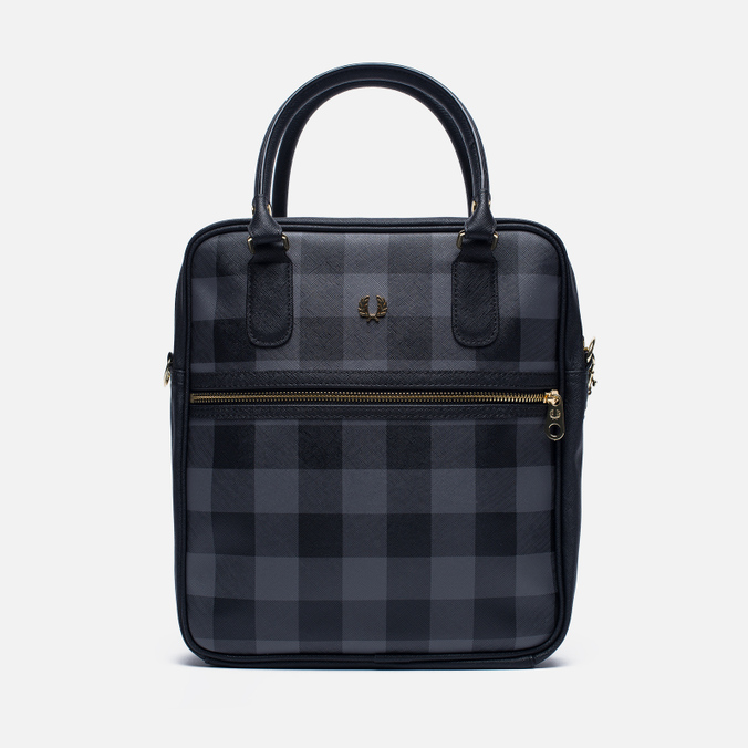 Женская сумка Fred Perry Gingham Boxy Grey/Black