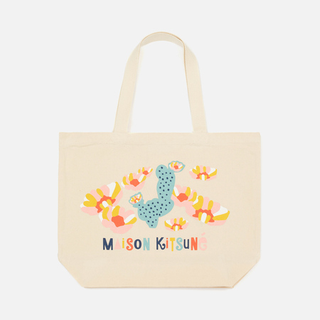 Женская сумка Maison Kitsune Cactus Ecru/Multicolor