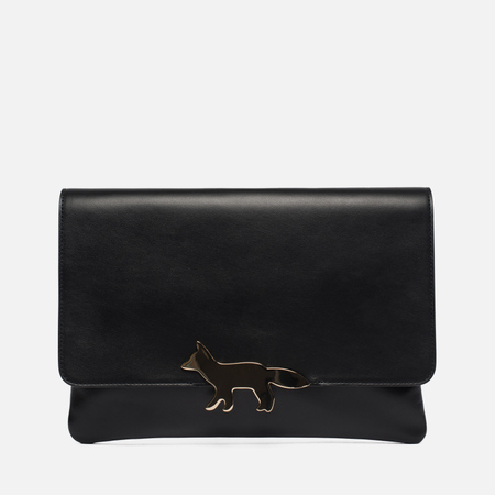 Женская сумка Maison Kitsune Clutch Leather Black