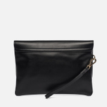 Женская сумка Maison Kitsune Clutch Leather Black фото- 2