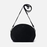 Женская сумка YMC Suede Half Circle Black фото- 0