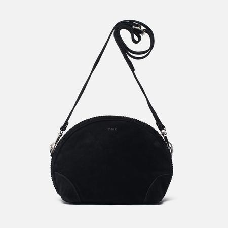 Женская сумка YMC Suede Half Circle Black