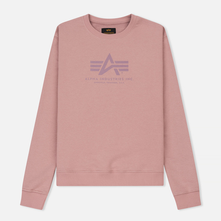 Женская толстовка Alpha Industries Logo Silver Pink