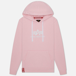 Женская толстовка Alpha Industries New Basic Hoody Pastel Pink