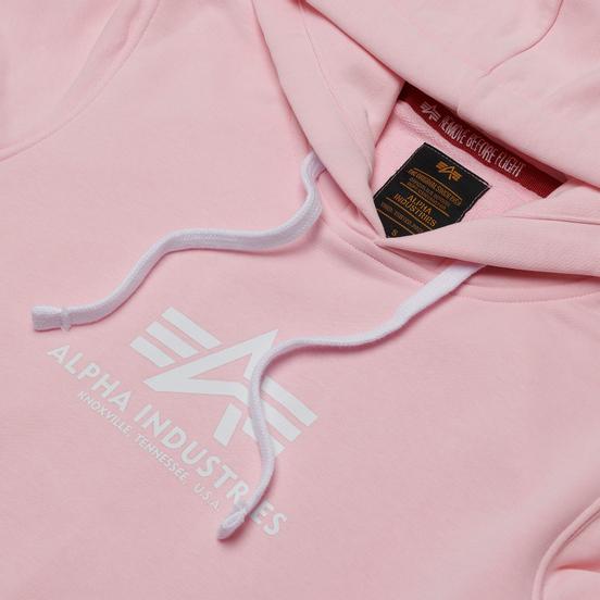 Женская толстовка Alpha Industries New Basic Hoody Pastel Pink